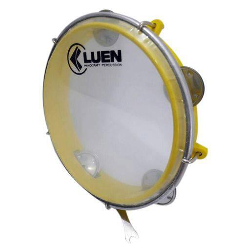 "Pandeiro ABS Amarelo Junior Pele Cristal 8"" - Luen"