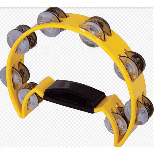 Pandeiro Meia Lua Spanking C/manopla Plastico Amarelo