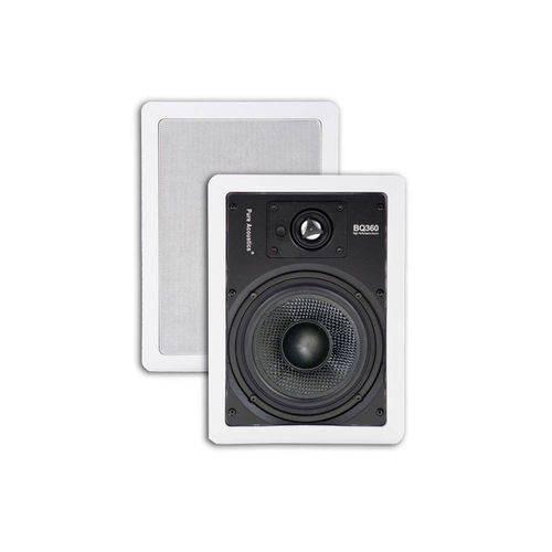 Par de Caixas de Embutir C/ Alto-Falantes de Kevlar Mod. Bq360 - Pure Acoustics