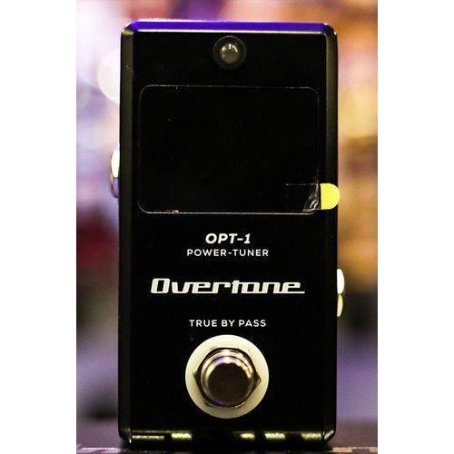 Pedal Afinador Digital C/fonte P/8 Pedais Overtone Opt-1