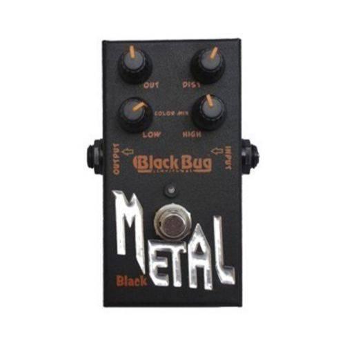 Pedal Black Metal Tbm Distorcion Heavy Metal Black Bug