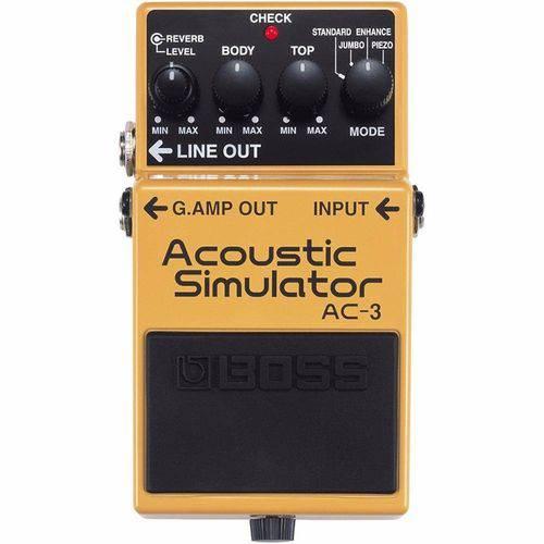 Pedal Boss Ac-3 Acoustic Simulator P/ Guitarra Simulador de Violao