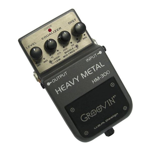 Pedal de Distorção para Guitarra Groovin HM 300