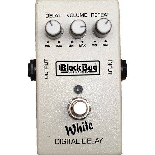 Pedal de Efeito para Guitarra Black Bug TWD White Delay