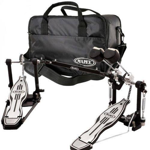 Pedal Duplo de Bateria Mapex P501tw Bumbo C/ Bag Luxo