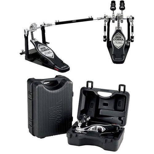 Pedal Duplo Tama New Iron Cobra Power Glide Hp900pwn com Mola Extra Propulsora Cobra Coil e Case
