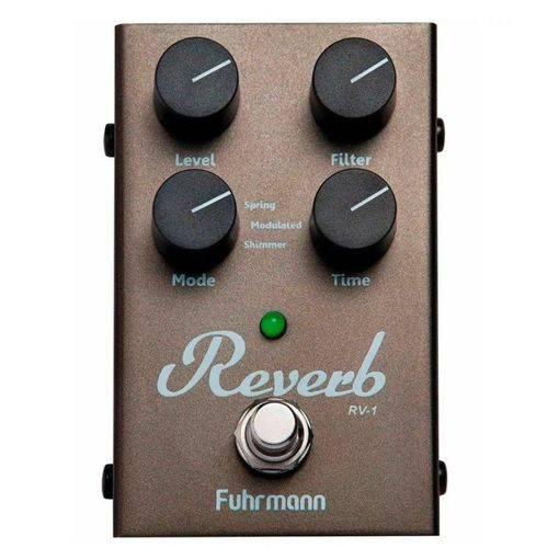 Pedal Guitarra, Violão, Contrabaixo Rv-01 Reverb Shimmer Digital Cinza Metálico - Fuhrmann