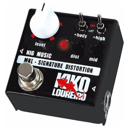 Pedal NIG MKL Signature Distortion Kiko Loureiro Linha Micro