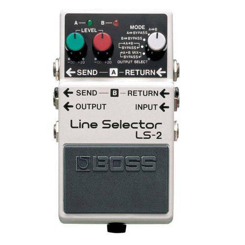 Pedal para Guitarra Boss Line Selector Ls-2, Dois Circuitos Independentes e Ls-2 Fornece 9V Dc