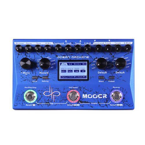 Pedal Pedaleira Mooer Delay & Looper Ocean Machine Tdl3