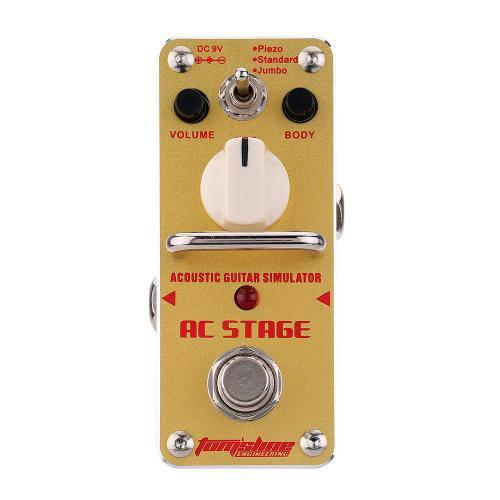 Pedal Simulador de Violão P/ Guitarra Tomsline Aas-3 Ac Stage - Pd1001