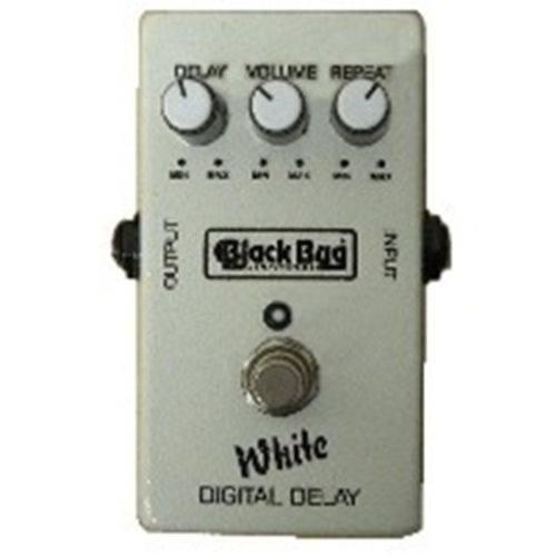 Pedal White Delay Twd Black Bug