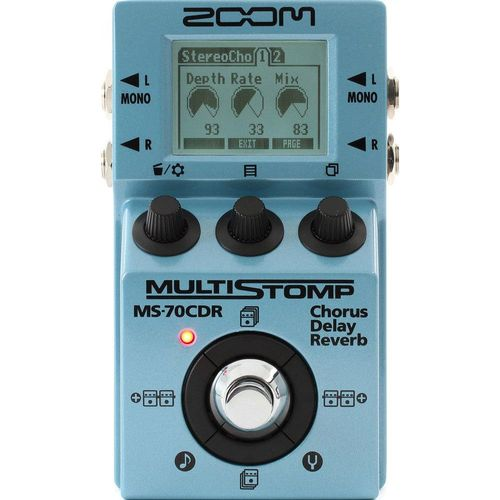 Pedal Zoom Ms 70cdr Multi Stomp Chorus Delay Shimmer Reverb