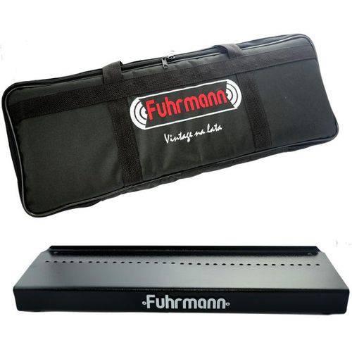 Pedalboard Bag em Nylon para 4 Pedais Plataforma em Aço Fuhrmann Pb4 Preto