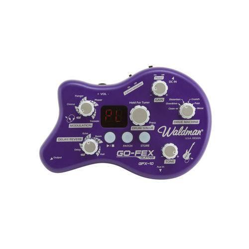Pedaleira de Efeitos para Guitarra Gfx10 Waldman