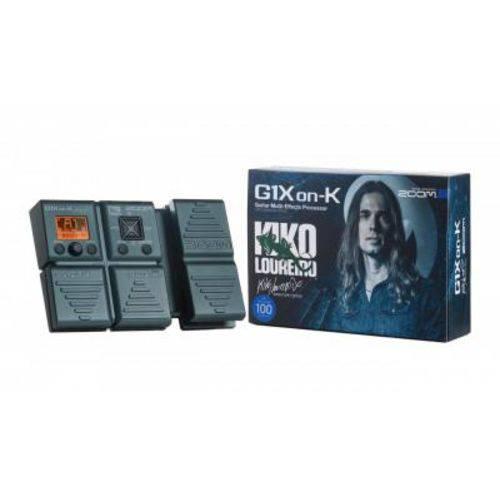 Pedaleira para Guitarra Zoom G1xon-k, Kiko Loureiro, Aux In, USB Firmware Update
