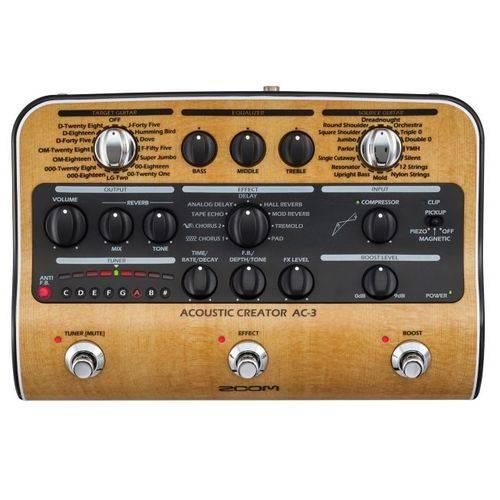 Pedaleira Zoom AC-3 Acoustic Creator   Multi Efeitos   para Violão