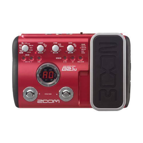Pedaleira Zoom B2.1u com USB para Contra Baixo com Fonte