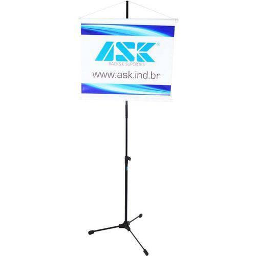 Pedestal de Banner Ask Bnr Pedestal para Fixação de Banners Publicitários