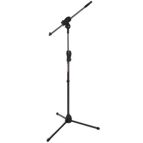 Pedestal Suporte para 1 Microfone Tipo Girafa Preto Smlight Ibox