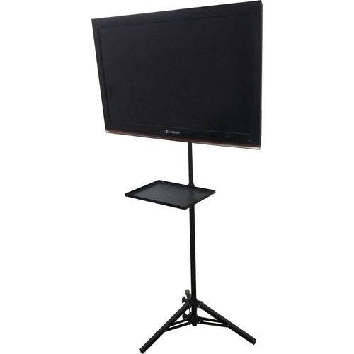 Pedestal Tripé de Chão P/ Tv Monitor Notebook LCD Video