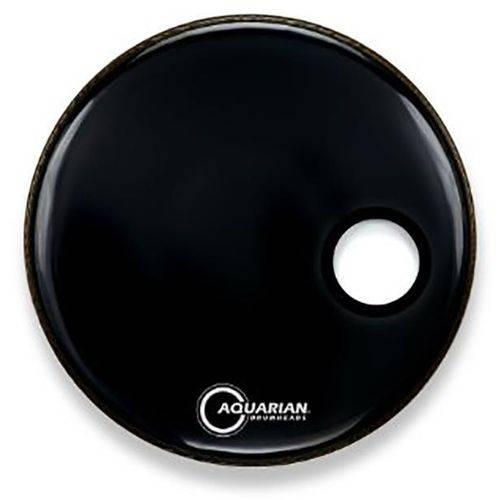 Pele Aquarian Ported Bass Black 22¨ Resposta de Bumbo (ambassador Ebony e Eq1 Resonant) Smptcc22bk