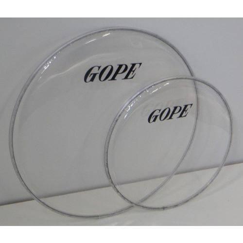 Pele Cristal Transparente Percussão Gope 12 Polegadas