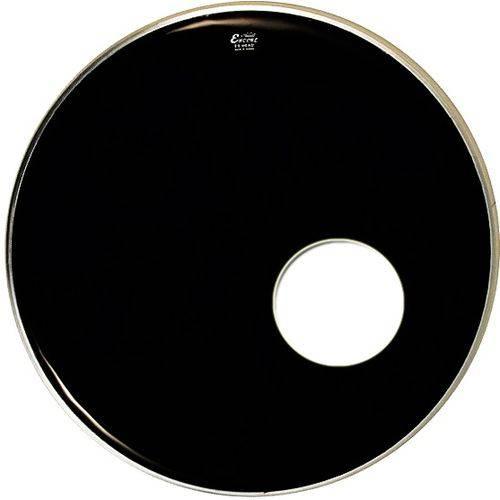 Pele para Bumbo Resposta Encore By Remo Ebony 22'' Preta com Furo En-1022-es