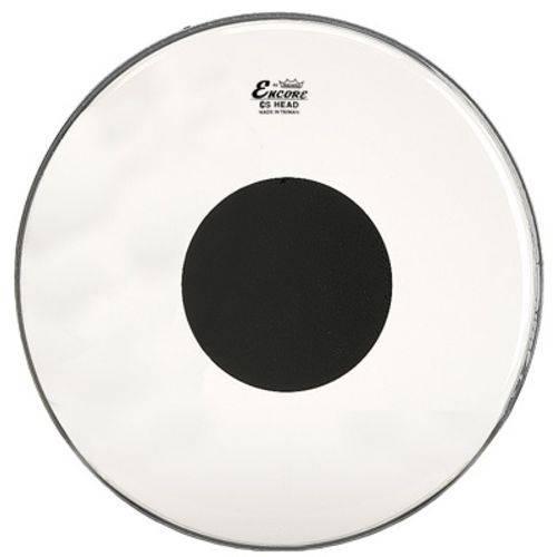 Pele para Caixa e Tons 13'' Encore By Remo Transparente com Bola Preta