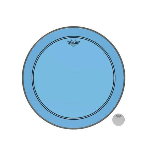 Pele Remo 22 Powerstroke 3 Colortone Transparente Azul Bumbo P3-1322-Ct-Bu