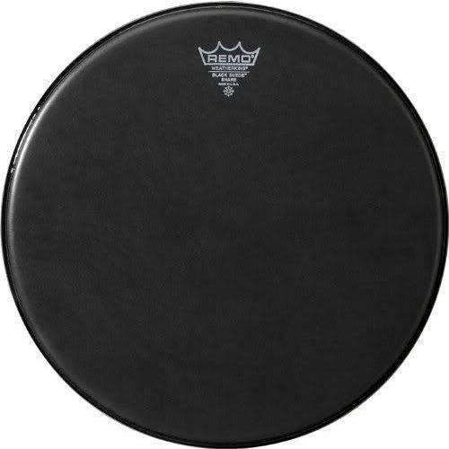 Pele Remo Black Suede Snare Side 13¨ Resposta Preta de Caixa