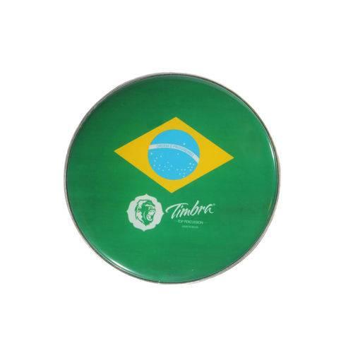 "Pele Timbra Leitosa 12"" Bandeira do Brasil P3"