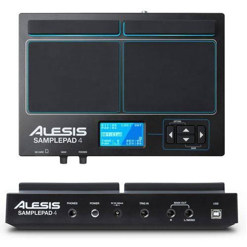 Percussão Eletrônica 4 Pads Midi Sd Samplepad4 Alesis
