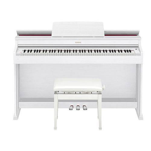 Piano Digital 88 Teclas Sensitivas Ap470 We Branco Casio com Pedal