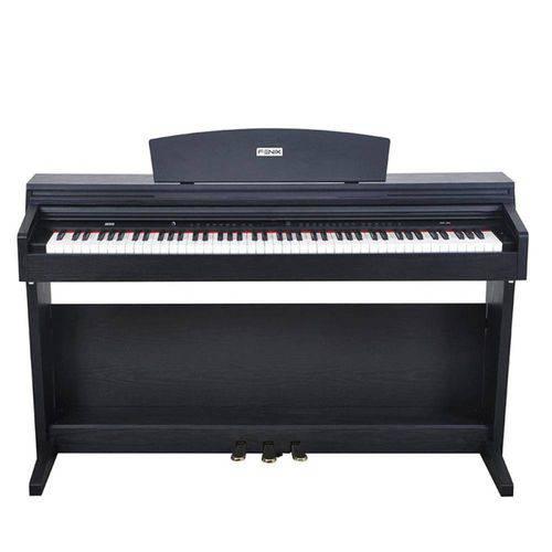 Piano Digital Fenix Dp 70 Bk Usb Preto 88 Teclas Sensitivas com 128 Vozes e 64 Tons Polifônicos