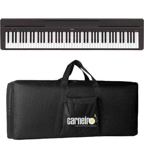 Piano Digital Yamaha P45 Preto com Fonte + Capa Luxo