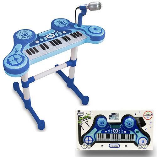 Piano e Teclado Eletrônico Infantil - Azul - Unik Toys