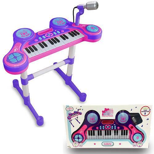 Piano e Teclado Eletrônico Infantil - Roxo - Unik Toys
