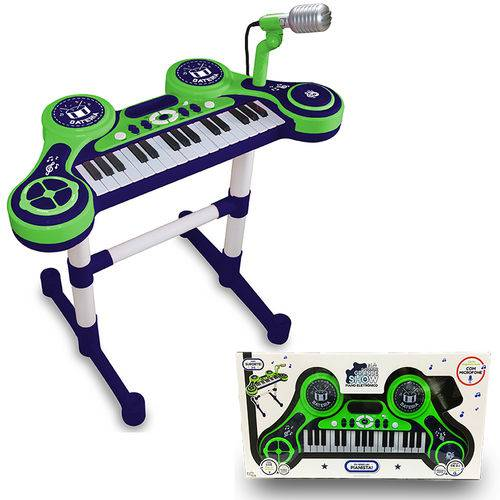 Piano e Teclado Eletrônico Infantil - Verde- Unik Toys