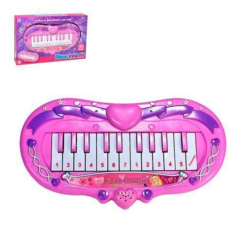 Piano Musical Coração C/ Luz 830316 - Zein
