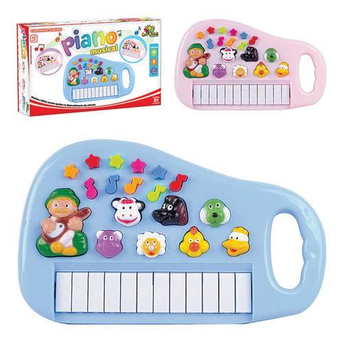 Piano Musical Infantil Sons de Animais Sitio Fazendinha - Classico