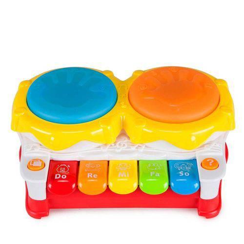Piano Tambor C/Som e Luz - Zippy Toys