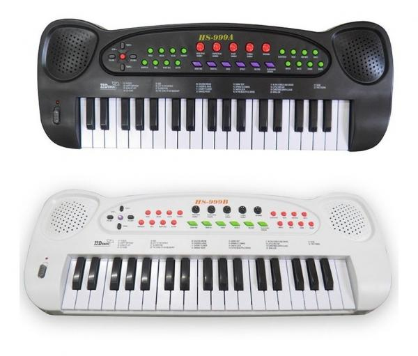 Piano Teclado Brinquedo Infantil Microfone Musical Educativo - Dm Brasil