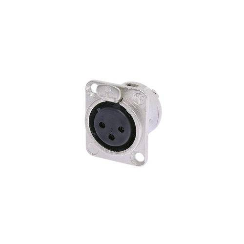 Plug Neutrik Xlr Femea Painel Nc3fdl1 Embutida