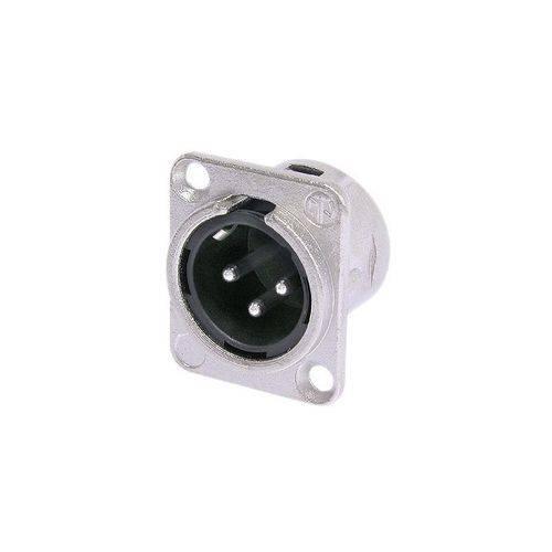 Plug Neutrik Xlr Macho Painel Nc3 Mdl1 Embutido
