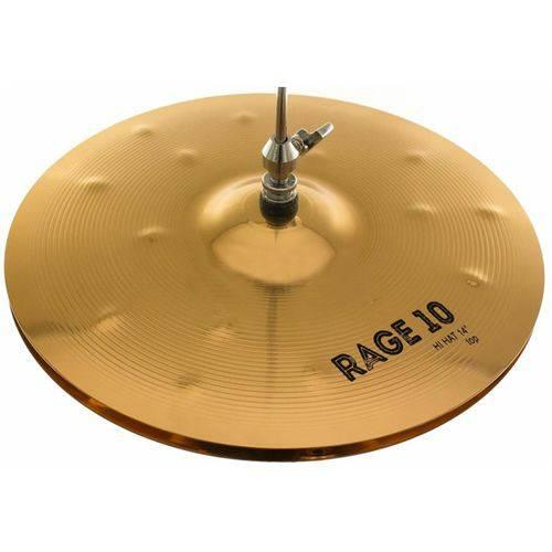 Prato Chimbal 14 Orion Rage 10 Medium Hi-hat Rg14hh em Bronze B10