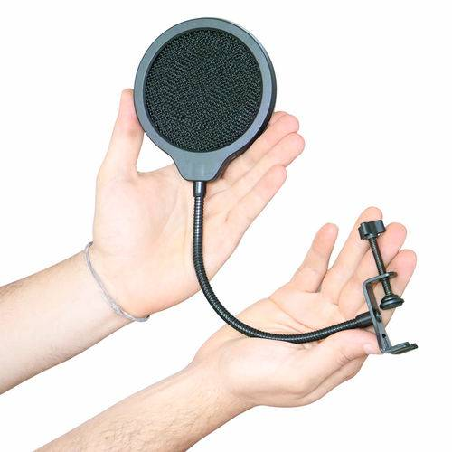 Protetor de Microfone Arcano Duplo Nylon e 1 Tela Metal PS-3