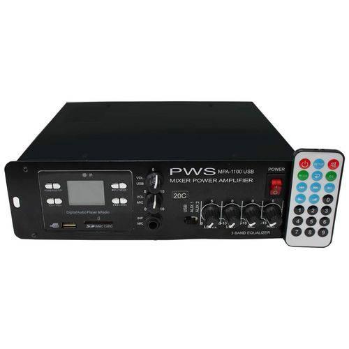 Pws - Amplificador para Som Ambiente Usb/fm 20c Mpa1100