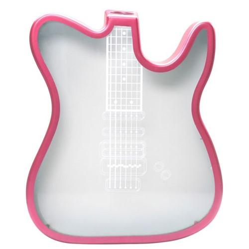 Quadro Guitarra Porta Rolha para Sublimação Rosa Pink