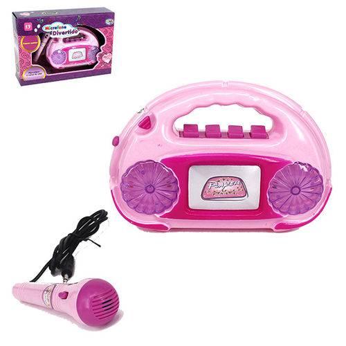 Radio Musical Infantil Divertido Meu Ritmo com Microfone e Luz na Caixa Wellkids